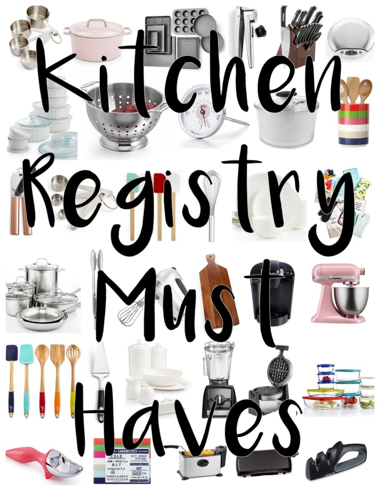 Wedding registry 101 the only kitchen registry you ll for Good wedding registry items